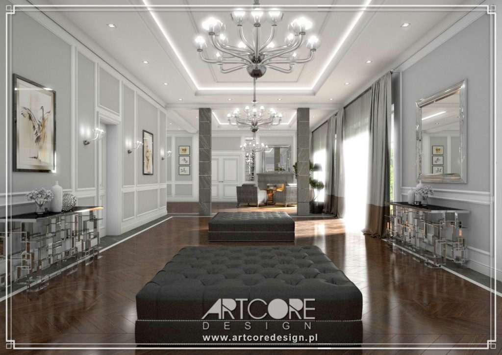 projektowanie wnętrz suwałki dom luksusowy salon styl klasyczny apartament