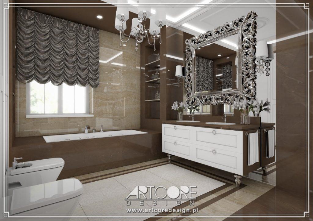 projektowanie wnętrz sosnowiec projekt łazienki