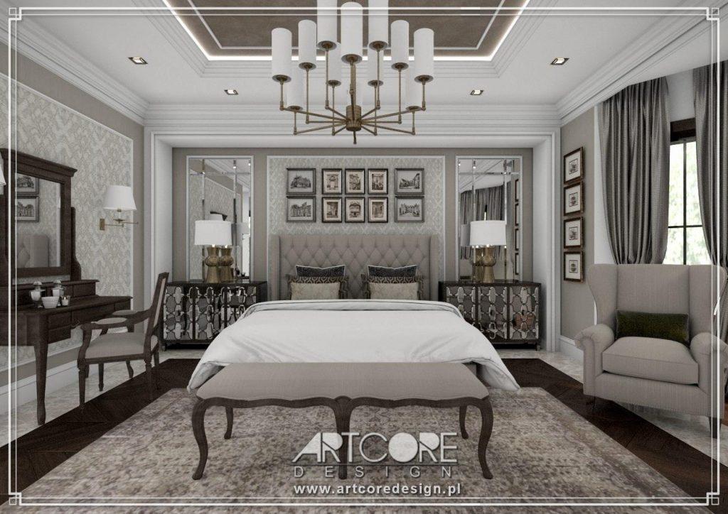 stylowa sypialnia aranżacja wnętrz katowice