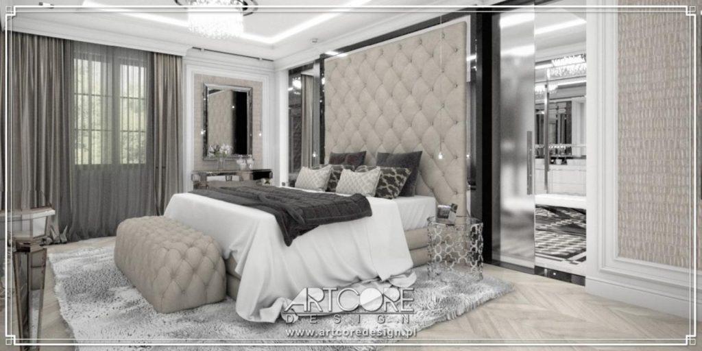 projektowanie wnętrz włocławek klasyczna sypialnia cena